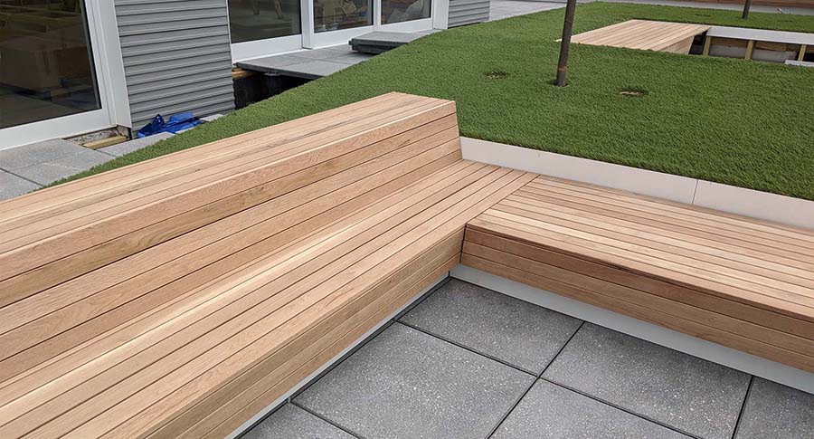 Project 4 – Pearl-St-Brooklyn-NY – Custom metal planters and wood benches