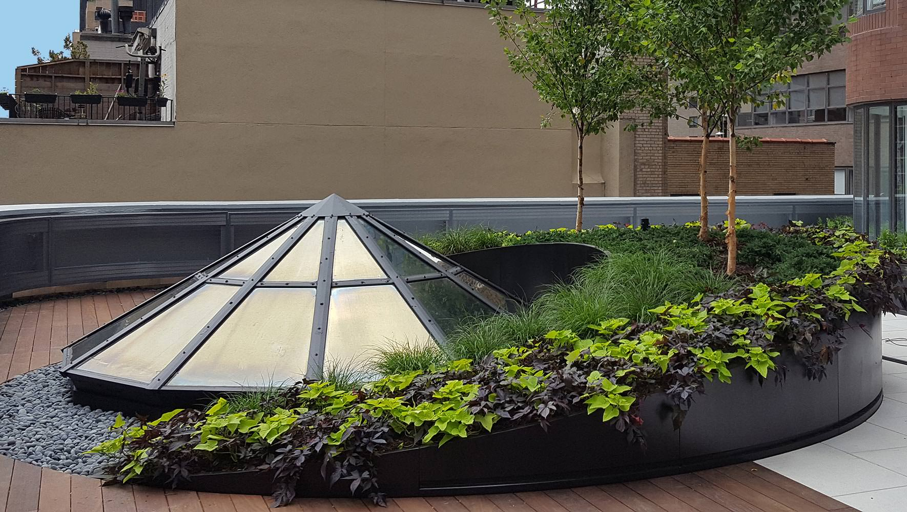 Custom Semi–Circle Planter – New York, NY