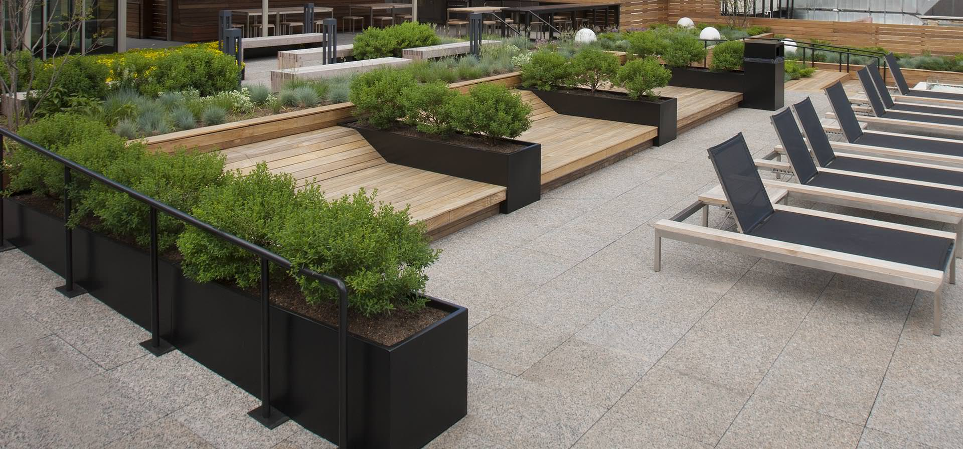 Wilshire Planters on Rooftop – Photo by Scott Shigley