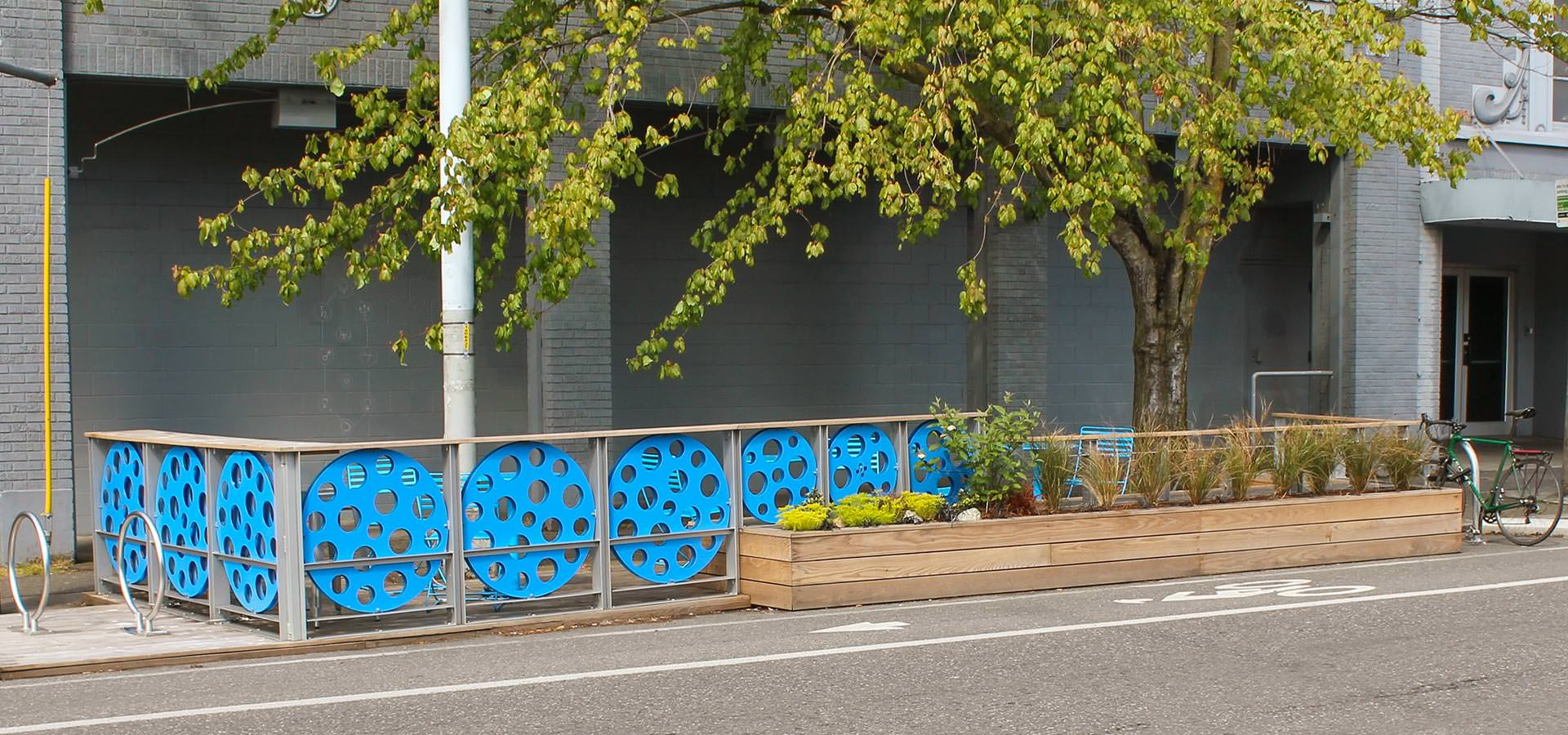 Parklet in Seattle, WA with Boulevard Wood