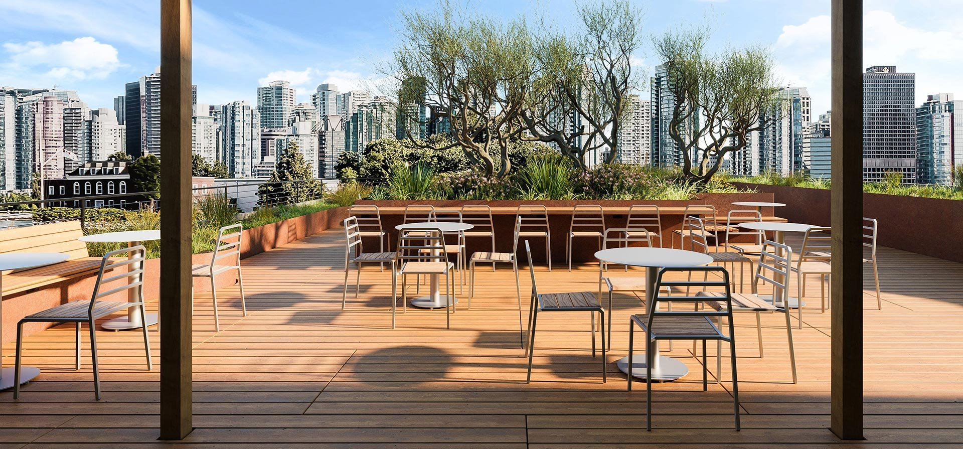Host chairs and Huddle tables on rooftop terrace.jpg