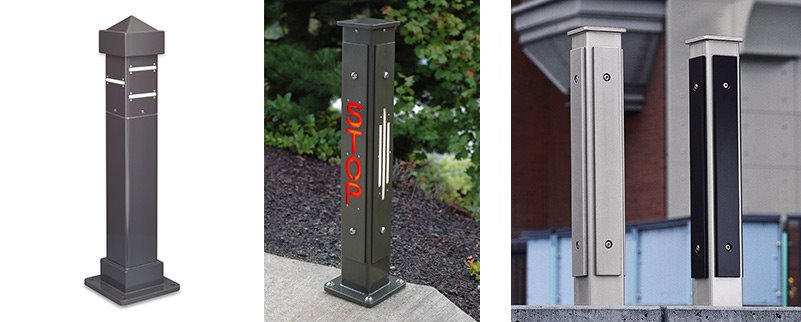 LED Accent Bollards - Square